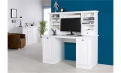 Schreibtisch Landwood 32 mit Aufsatz Sekretär PC-Tisch weiß