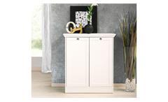 Kommode Landwood Stauraumelement Schrank in weiß mit 2 Türen Landhausstil
