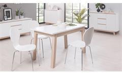 Esstisch APART 7 Tisch Esszimmertisch In Weiß Sonoma Eiche 140 190 Cm
