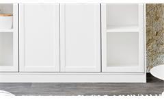 Highboard Landwood Buffet Schrank Anrichte in weiß mit 4 Türen Landhausstil