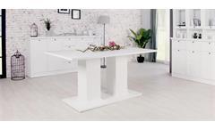 Esstisch Landwood Esszimmertisch Säulentisch in weiß 160x90 cm Landhausstil