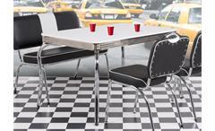 Tisch Elvis American Diner Bistro 50er Jahre Rockabilly Retro verchromt 120x80cm