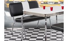 Sitzbank ELVIS Bank American Diner schwarz weiß