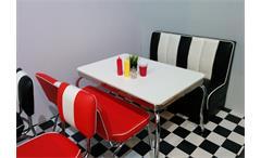 Bank Elvis American Diner Bistrobank 50er Polsterbank Küchenbank in rot