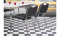 Stuhl Elvis 4er Set American Diner 50er Jahre Retro Bistrostühle schwarz Chrom