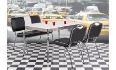 Stuhl Elvis American Diner 50er Jahre Retro Bistrostühle schwarz Chrom
