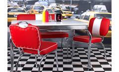 Stuhl Elvis American Diner 50er Jahre Retro Bistrostühle in rot Chrom