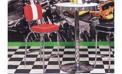 Barhocker ELVIS rot Chrom 50er Jahre American Diner
