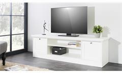 TV-Board Landwood Lowboard HiFi Unterteil in weiß mit 2 Fächern Landhausstil