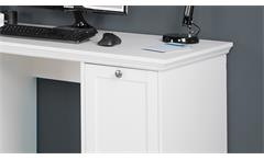 Schreibtisch Landwood Bürotisch Laptoptisch Tisch in weiß 136x63 cm Landhausstil