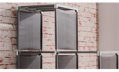 Steckregal Quicktec 10er Stufenregal anthrazit Raumteiler Regalsystem Box