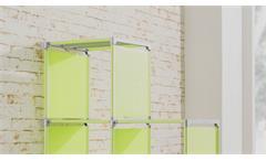 Steckregal QuickTec 10er Stufenregal apfelgrün Raumteiler Regalsystem Box