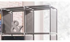 Steckregal QuickTec 12 Fächer anthrazit Raumteiler Regalsystem Aufbewahrung