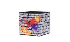 Faltbox Flori 1 Faltkiste Aufbewahrungsbox Korb Regal Graffiti 32x32x32 cm