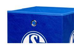 Faltbox Flori Aufbewahrungsbox FC Schalke 04 Design in blau und weiß Bundesliga