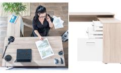 Winkelschreibtisch LONDON 1 Büro Eck Schreibttisch Sonoma Eiche mit Sideboard