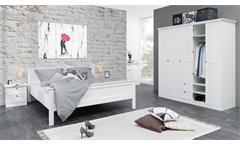 Bett Landwood 63 Bettgestell Doppelbett in Weiß im Landhaus Stil 180x200 cm