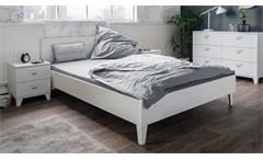 Bett Factory 62 Bettgestell Futonbett in weiß matt 140x200 cm Industrie-Look
