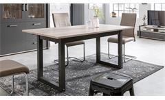 Esstisch BROOKLYN Tisch in Eiche anthrazit Industrie Optik 160-200 cm