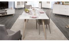 Esstisch Küchentisch Esszimmertisch Göteborg weiß Sonoma Eiche Tisch 160x90 cm