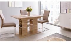 Esstisch Pixel Tisch Küchentisch Esszimmertisch in Sonoma Eiche 120-160 cm