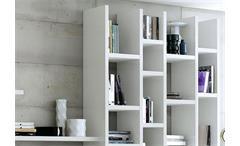 Wohnwand Toro 161 Anbauwand Regal weiß Hochglanz lackiert