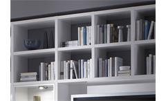 Wohnwand Toro 188 Anbauwand Regal weiß Hochglanz lackiert