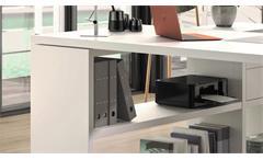 Schreibtisch Bürotisch Eckschreibtisch Regal Toro 1 System weiß matt Lack