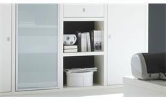 Sideboard Anrichte Kommode Schrank Toro 79 System weiß matt Lack Glas satiniert