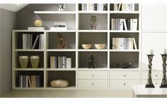 Regalwand Wohnwand Schrankwand Bücherregal Toro 25 System weiß matt Lack