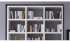 Regal Regalwand Bücherregal Standregal Toro 64 System weiß Hochglanz Lack