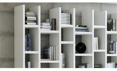 Regalwand Regal Bücherregal Standregal Toro 46 System weiß Hochglanz Lack