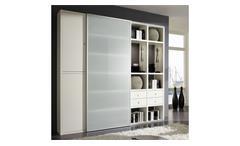 Regalwand TORO 28 System weiß matt lackiert Glas satiniert