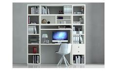 Büroregal TORO 68 System weiß matt lackiert