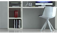 Büroregal Regal Aktenregal Bücherregal Büro Toro 68 System weiß matt Lack