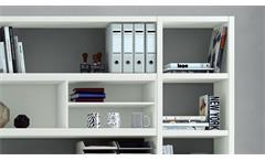 Büroregal Regal Aktenregal Bücherregal Büro Toro 68 System weiß Hochglanz Lack