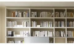 Regalwand Bücherregal Standregal Büroregal Toro 20 System weiß Hochglanz Lack