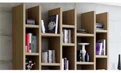 Regalwand Regal Bücherregal Standregal Büroregal Toro 47 System Sonoma Eiche