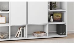 Regalwand Regal Bücherregal Standregal Büroregal Toro 88 System weiß matt Lack