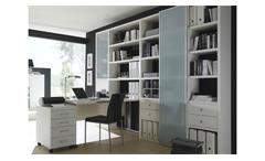 Büro-Set Toro 18 System weiß matt lackiert Glas satiniert