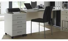 Büro-Set Arbeitszimmer Home Office Toro 18 System weiß matt Lack Glas satiniert