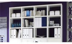 Büro-Set Arbeitszimmer Home Office Büromöbel Toro 17 System weiß matt Lack