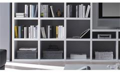 Wohnwand Regalwand Schrankwand Bücherregal Toro 37 System weiß matt Lack