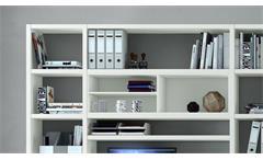 Büroregal Büro-Set Aktenregal Bücherregal Regal Toro 69 System weiß matt Lack