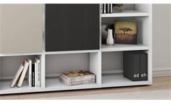 Regalwand Regal Bücherregal Wohnwand Schrankwand Toro 90 System weiß matt Lack