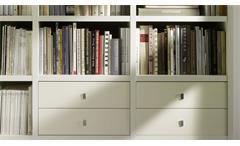 Regalwand Regal Bücherregal Wohnwand Schrankwand Toro 32 System weiß matt Lack