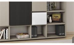 Regalwand Regal Bücherregal Wohnwand Schrankwand Toro 87 System beige matt Lack