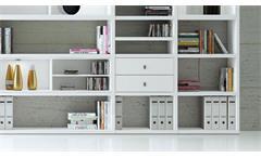 Regalwand Regal Bücherregal Standregal Büroregal Toro 57 System weiß matt Lack