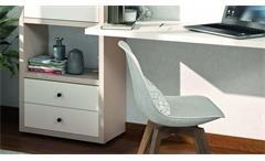 Büroregal Regal Aktenregal Bücherregal Toro 2 System beige und weiß matt Lack