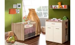 Wandregal Winnie Babyzimmer Sonoma Eiche Dekor und weiß